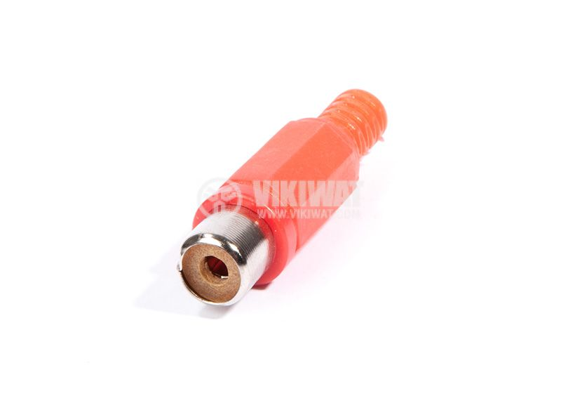 Cable connector RCA F, F-838 red - 1