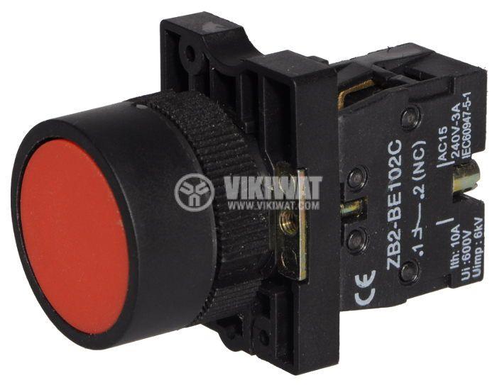 Бутон LAY5-ЕА42 400VAC/10A SPST-NC червен - 2
