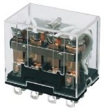 Реле електромагнитно LY4, бобина 24VDC, 250VAC/10A, 4PDT - 4NO+4NC