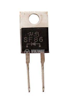 Диод SF86 400 V, 8 A, 50 ns, изправителен, бърз