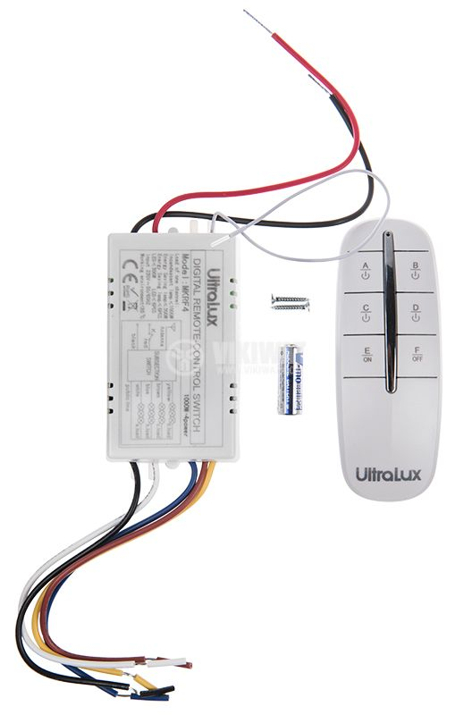 Remote control switch MKRF4, with four control channels, 220VAC, 30m - 4