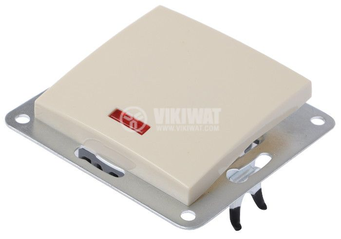Electric Switch, cream-coloured, LEXA 250 VAC, 10 A, deviatore