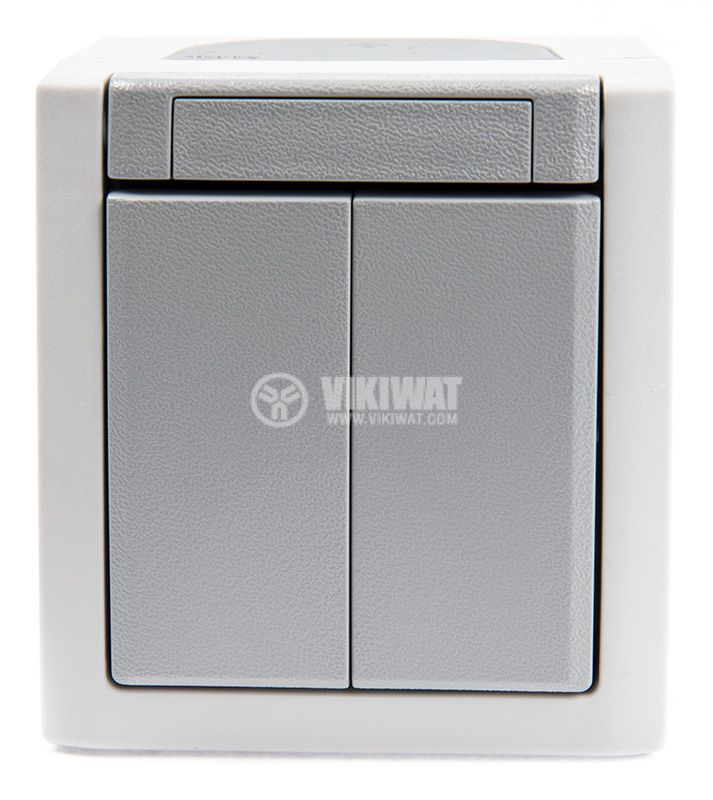 Deviatore electrical switch, 250 V/AC, 10 A, white, MAKEL, surface mount - 2