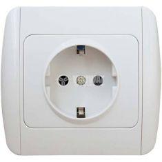Електрически контакт P-RZG, 16A, 250VAC, бял, за вграждане