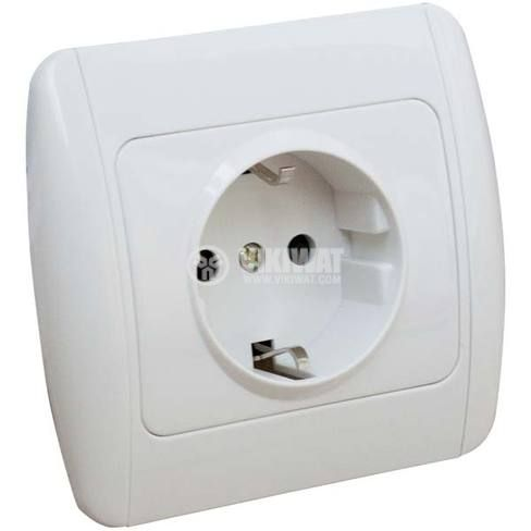 Power Electrical Socket, 250 VAC, 16 A, white - 2