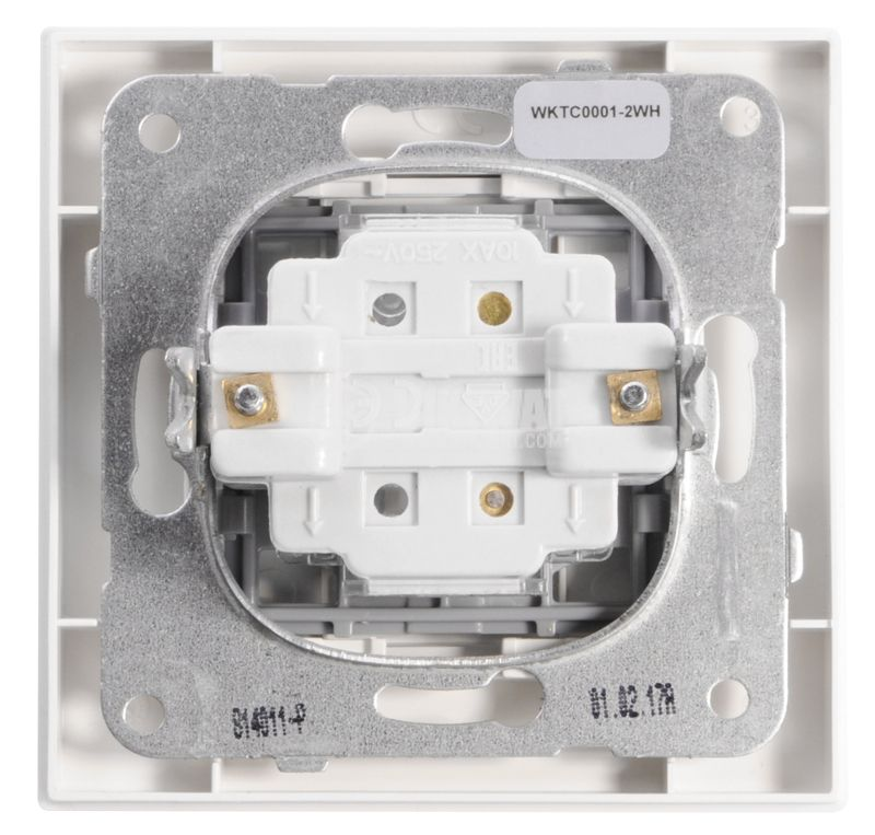 One-way electrical switch, Panasonic, circuit 1, 10A, 250VAC, white - 5