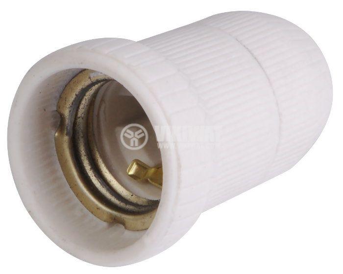 Lamp holder E27, porcelain - 2