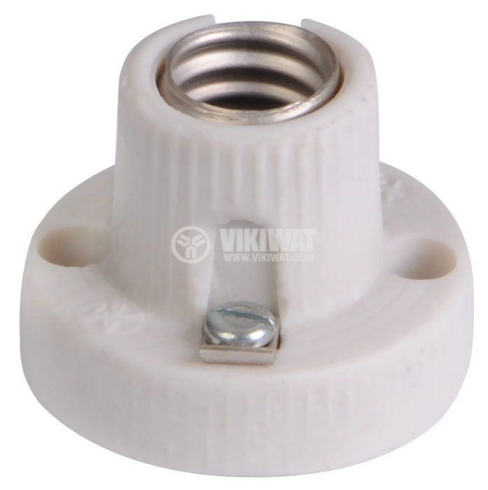 Ceramic Lamp Socket, white, E14