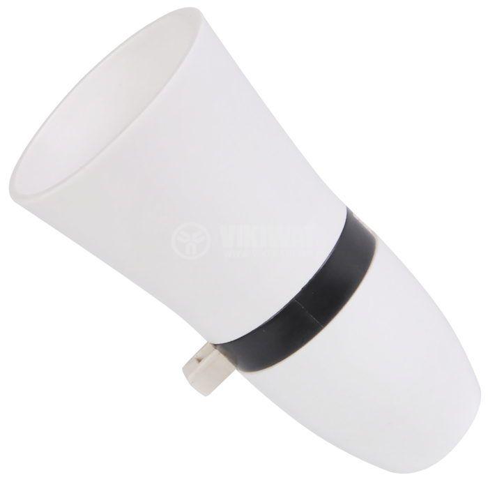 Фасунга B22, бакелитна, бяла, за висящ монтаж, с ключ - 1