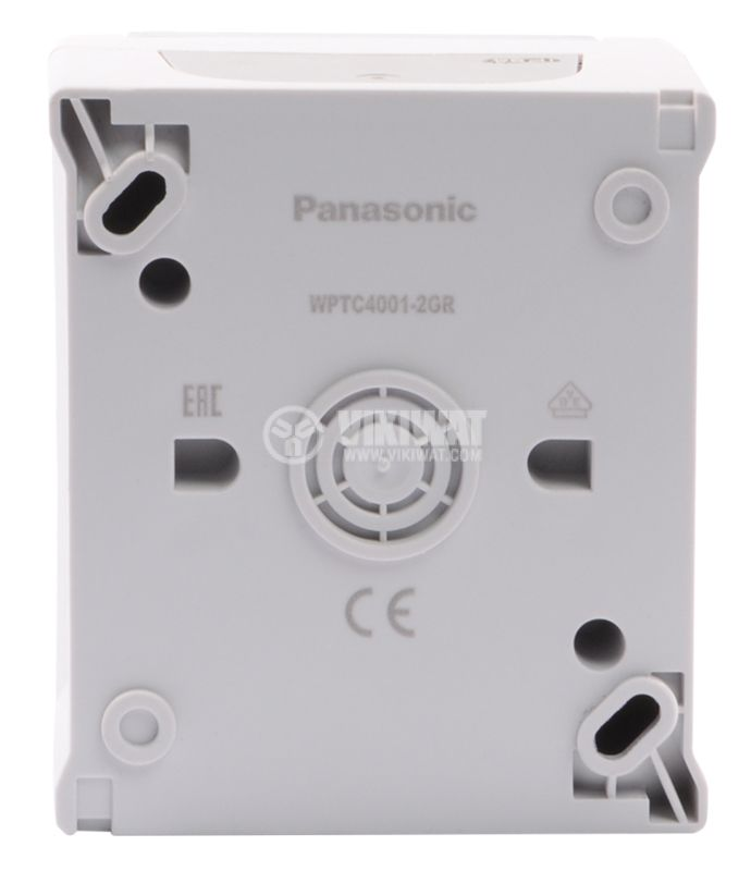 Еlectrical switch, Panasonic, 10A, 250VAC, IP44, outer mounting, grey - 5