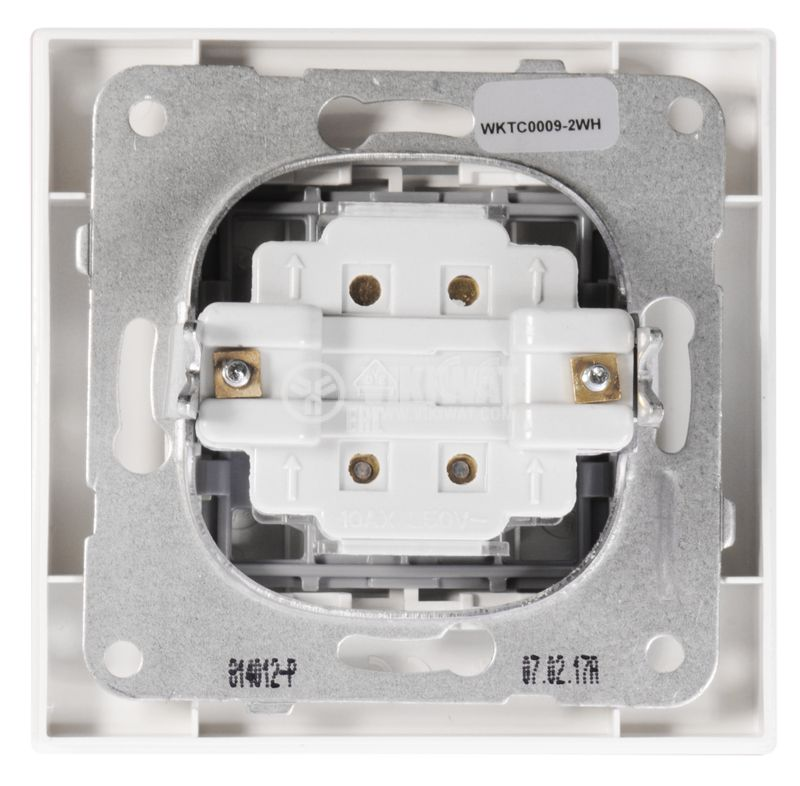 2-gang one-way switch, complete, Karre Plus, Panasonic, 10A, 250VAC, white, WKTC00092WH - 6