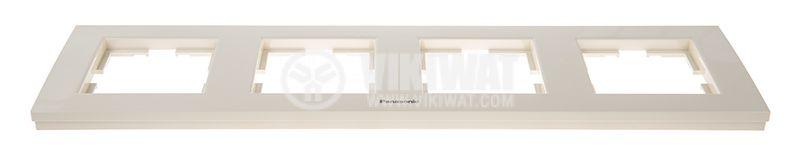 4-gang frame, Panasonic, horizontal, 81x296mm, beige, WKTF0804-2BG - 2