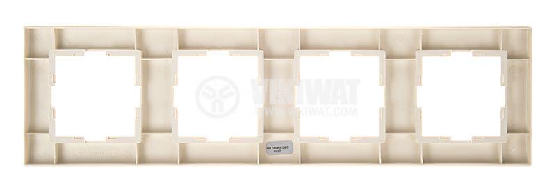 4-gang frame, Panasonic, horizontal, 81x296mm, beige, WKTF0804-2BG - 3