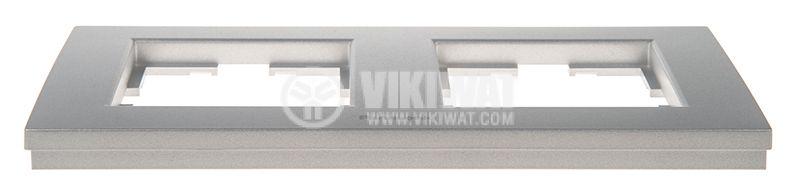 2-gang frame, Panasonic, horizontal, 81x154mm, silver, WKTF0802-2SL - 4