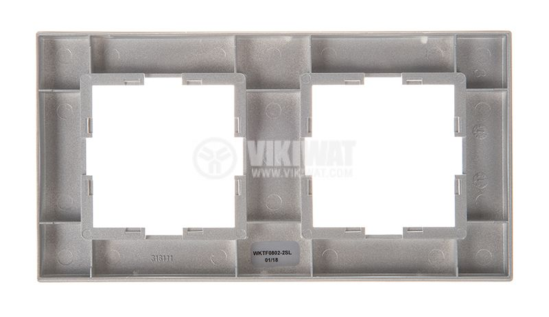 2-gang frame, Panasonic, horizontal, 81x154mm, silver, WKTF0802-2SL - 5