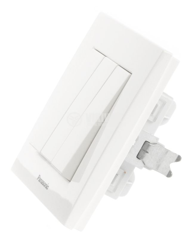 Electrical switch, Panasonic, triple, circuit 1, 10A, 250VAC, white - 2