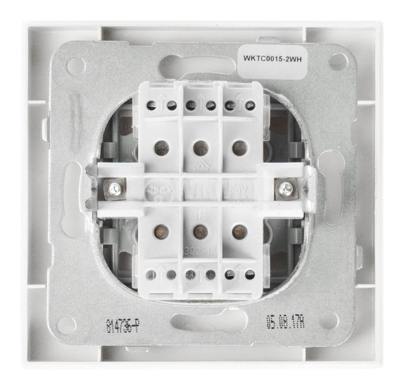Electrical switch, Panasonic, triple, circuit 1, 10A, 250VAC, white - 3