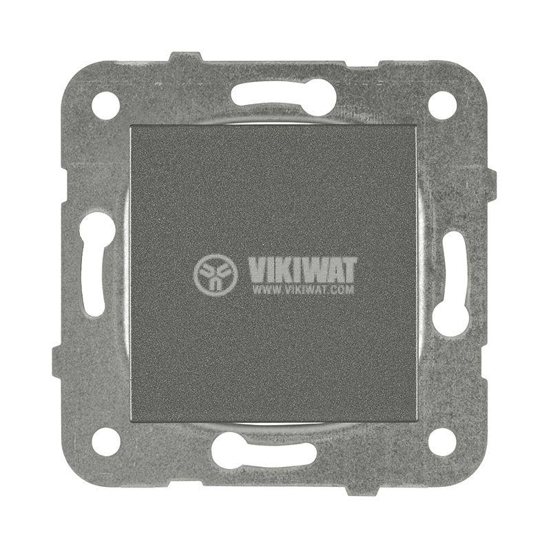 One-way switch 10A dark gray - 1