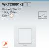 Електрически ключ, Karre Plus, Panasonic, единичен, схема 1, 10А, 250VAC, за вграждане, крем, WKTC0001-2BG - 4
