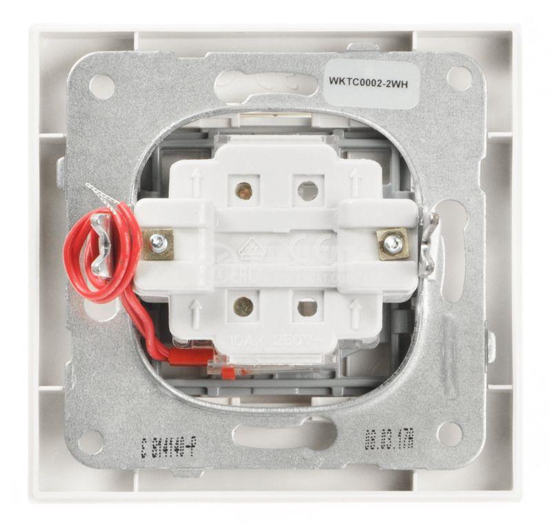 Single electrical switch, Panasonic, circuit 1, 10A, 250VAC, white, illuminated - 6