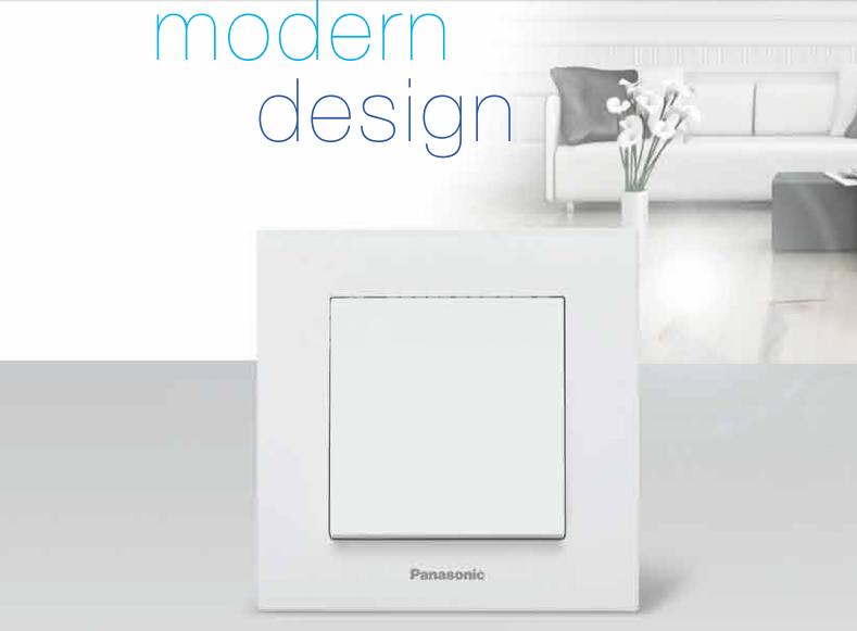 One-way switch, complete, Karre Plus, Panasonic, 10A, 250VAC, white, illuminated, WKTC0002-2WH - 2