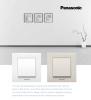 3-gang one-way switch, Karre Plus, Panasonic, 10A, 250VAC, beige, WKTC0015-2BG - 2