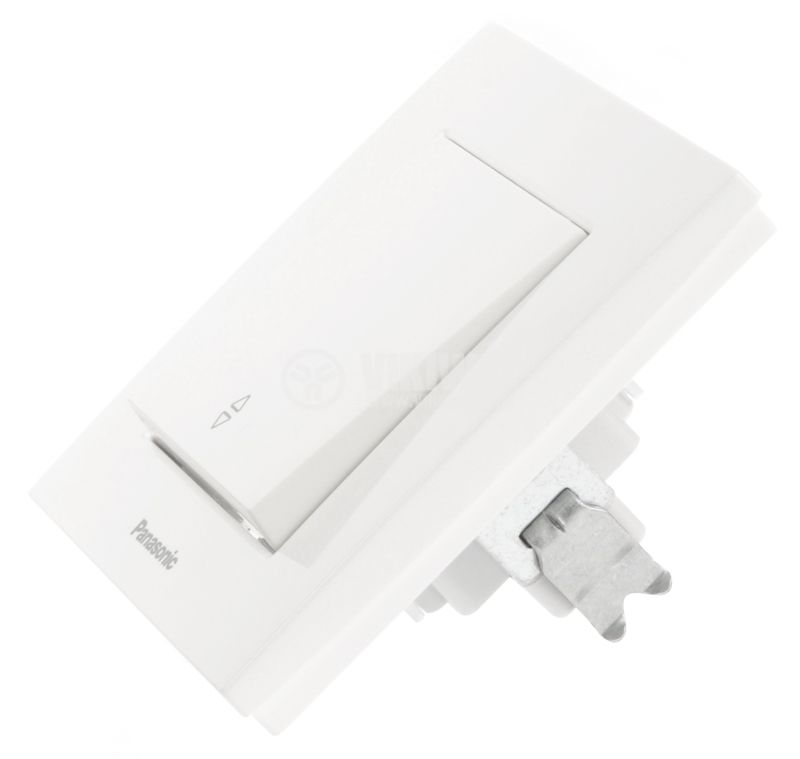 Electrical two-way switch, Panasonic, circuit 6, 10A, 250VAC, white - 5