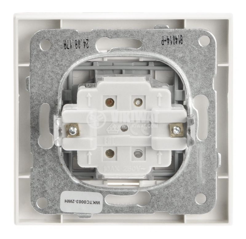 Electrical two-way switch, Panasonic, circuit 6, 10A, 250VAC, white - 6