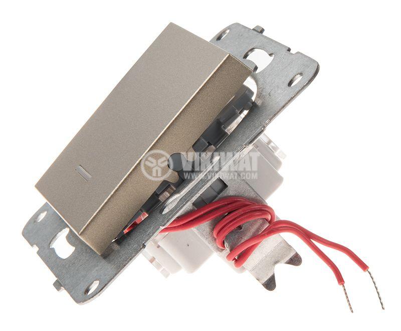 One-way Switch, illuminated, Karre Plus, Panasonic, 10A, 250VAC, bronze, WKTT0002-2BR, mechanism+rocker - 2