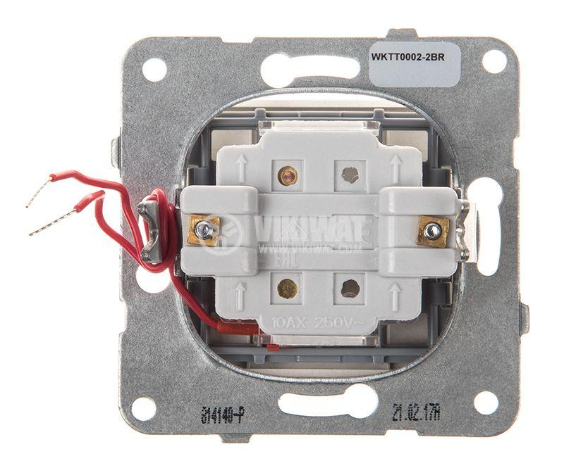One-way Switch, illuminated, Karre Plus, Panasonic, 10A, 250VAC, bronze, WKTT0002-2BR, mechanism+rocker - 3