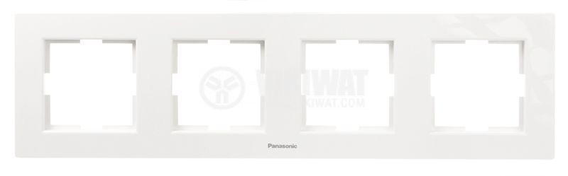 Quad frame, Panasonic, horizontal, 80x300mm, white - 1