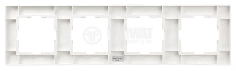 Quad frame, Panasonic, horizontal, 80x300mm, white - 2