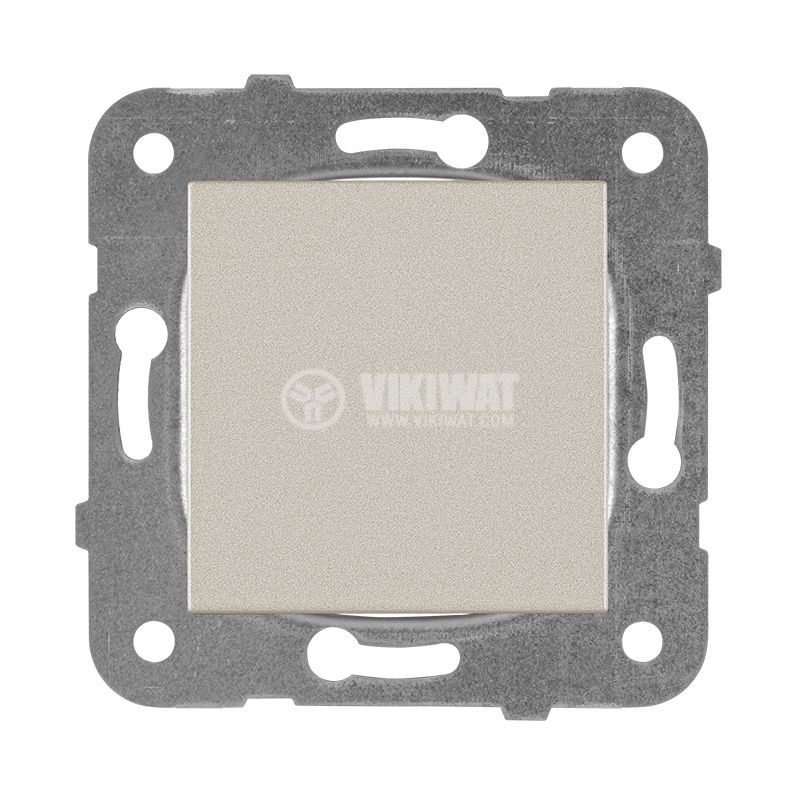 One-way Switch, Karre Plus, Panasonic, 10A, 250VAC, bronze, WKTT0001-2BR, mechanism+rocker - 1