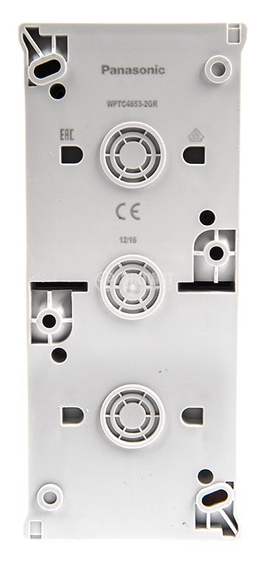 Electrical switch, double, circuit 5, 10A, 250VAC and electrical contact, 16A, 250VAC, IP54 - 2