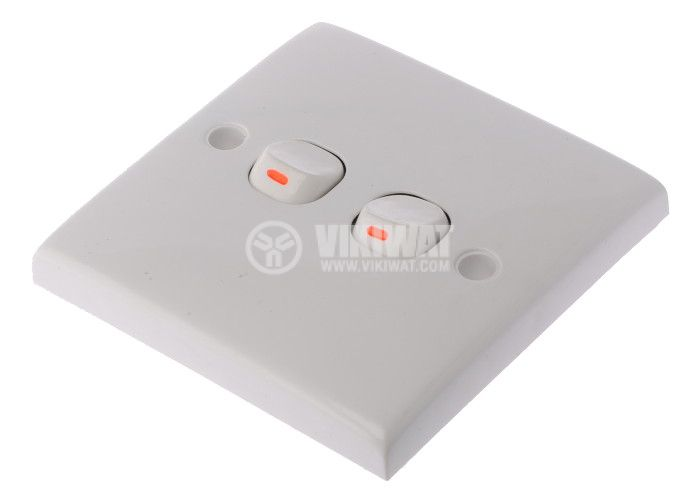 Double Electrical Switch, 250 V/AC, 10 A, U9210