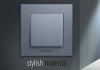 2-gang frame, Panasonic, horizontal, 81x154mm, dark gray, WKTF0802-2DG - 3