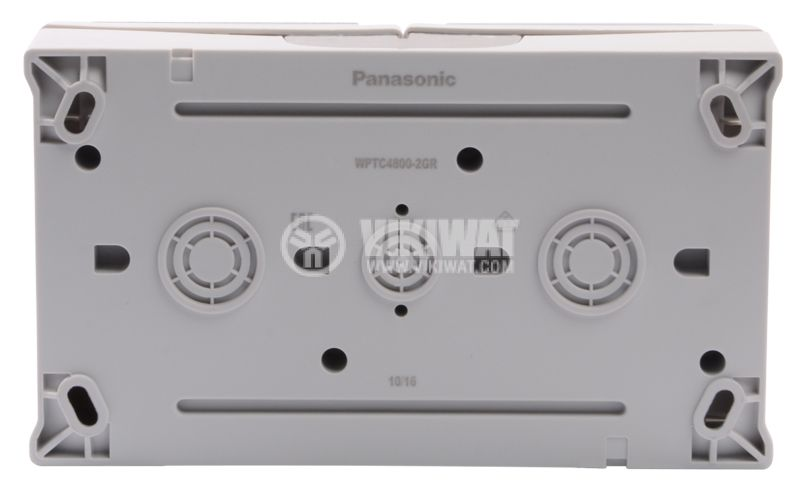 Double ELECTRICAL OUTLET Panasonic, 16A, 250VAC, grey, IP54, outdoor installation - 5