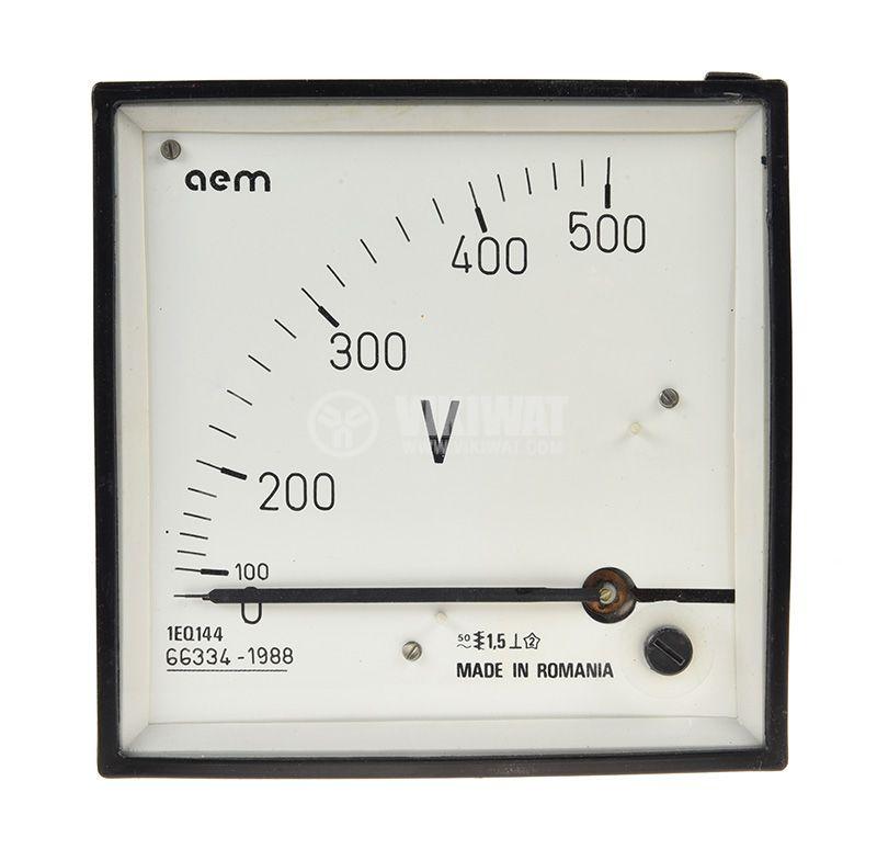 Voltage meter 1EQ144, 0/100-500VAC, direct, 145x145mm - 1