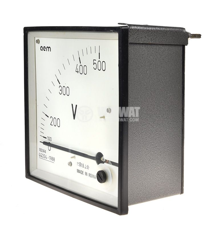 Voltage meter 1EQ144, 0/100-500VAC, direct, 145x145mm - 2