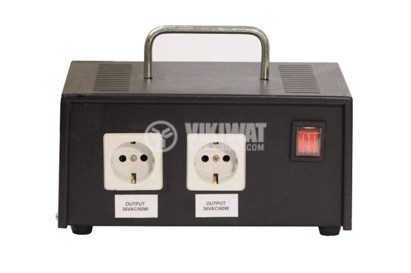 Power Supply AC-AC, 220VAC, output 2x36VAC, 2x60W