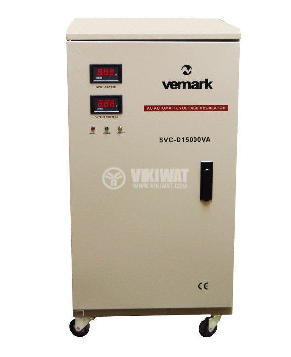 Стабилизатор на напрежение SVC-D15000VA, 15000VA, 220VAC - 1