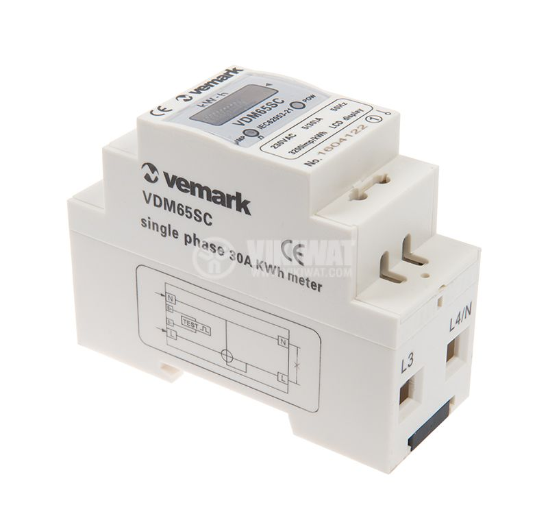 Electricity meter electronic VDM65SC (LCD), 5(30 А), direct, 230 VAC - 2