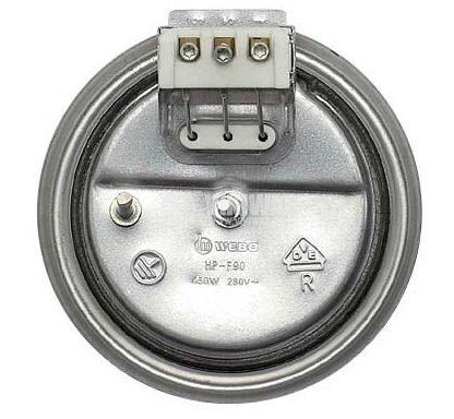 Чугунена нагревателна плоча за котлон Ф95mm, 230VAC, 450W - 2