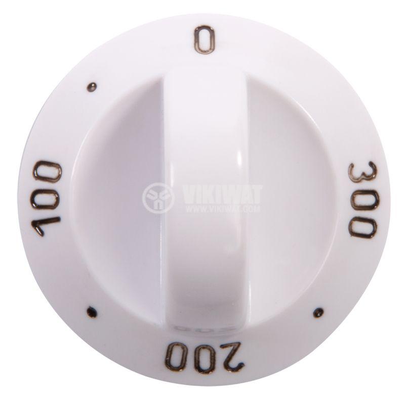 Oven for stove, 0 ° C, 100 ° C, 200 ° C, 300 ° C, 4 degree, white, bakelite - 1
