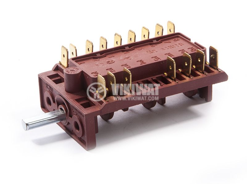 Switch for oven, 5 position(4 + 0), 5 poles, 16A/230VAC - 2
