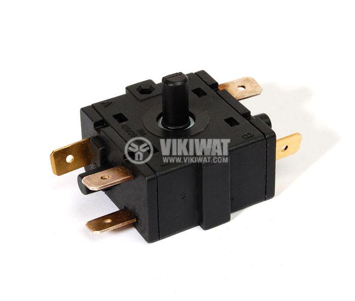 Електрически ключ, петпозиционен, 6 извода - 4