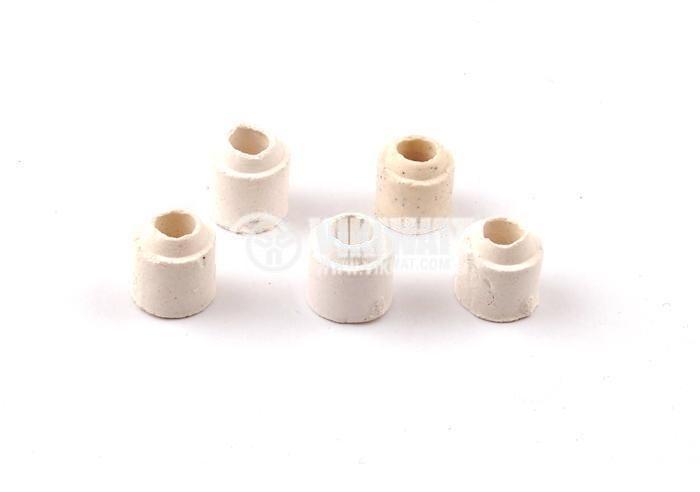 Керамичен изолатор, синци, Ф8mm / Ф3.5mm