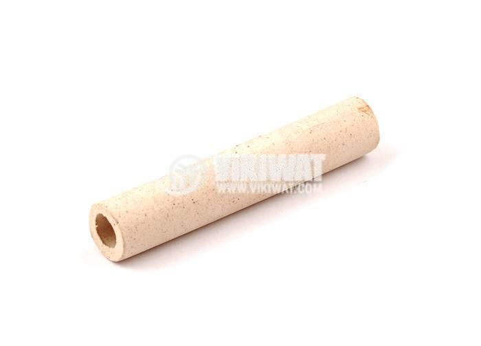 Керамичен изолатор, тръбичка, L=53mm, Ф10mm / Ф5mm