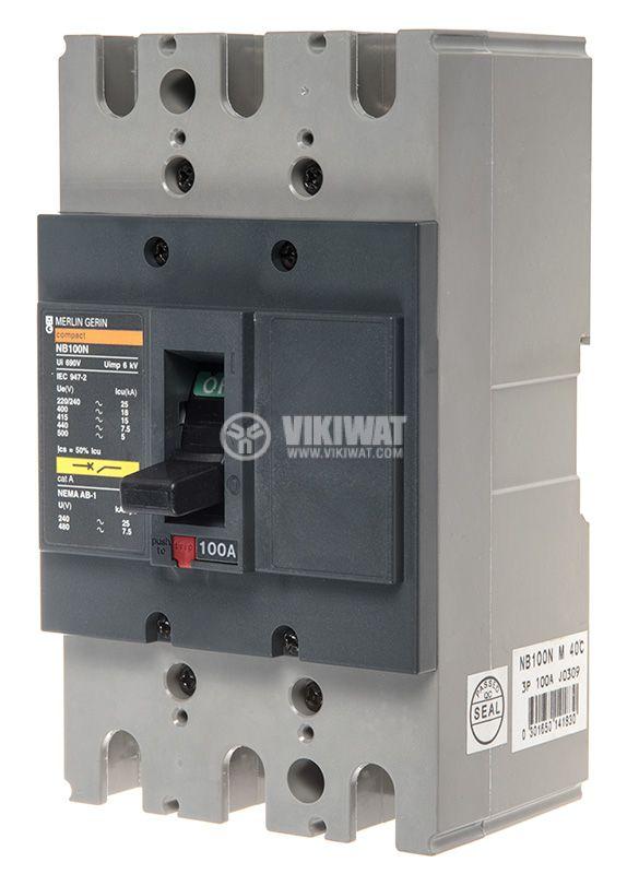 Автоматичен прекъсвач NB100N, 3P, 100A, 690VAC - 1