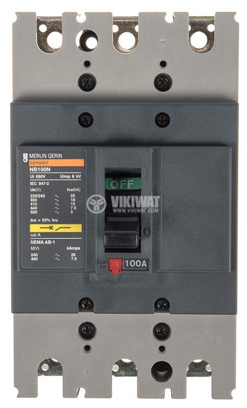 Автоматичен прекъсвач NB100N, 100A, 690VAC - 2